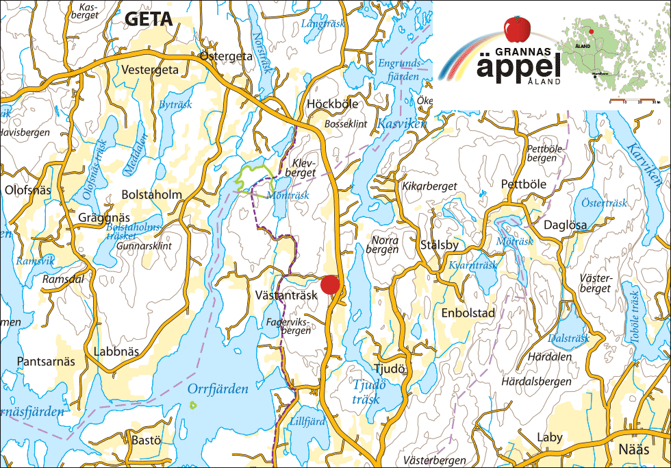 Grannas på Ålandskarta